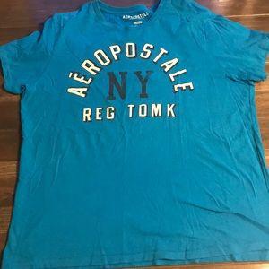 Men's Aeropostale Turquoise T-Shirt